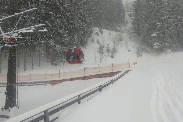 Wagrain, rote 8-er in de sneeuw