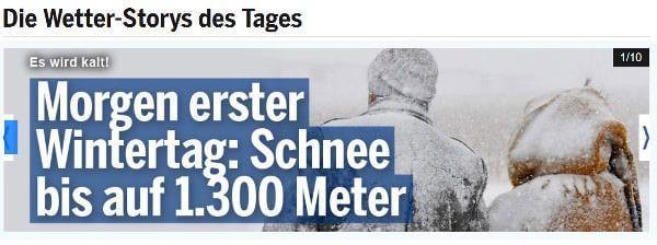 weersverwachting voor de winter 2020