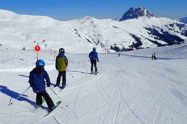 Rode piste in Wildkogel Arena