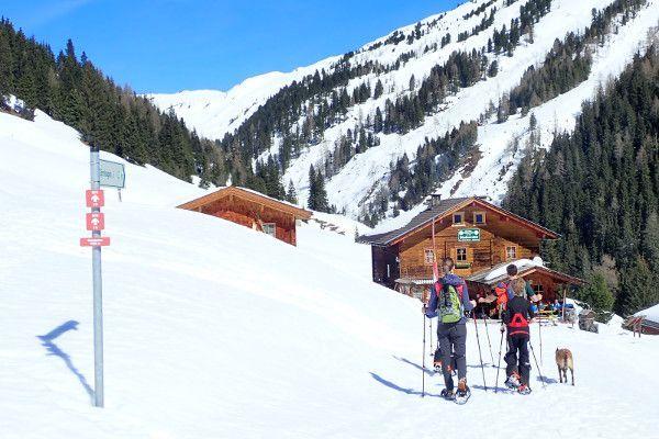 Sneeuwschoenwandelen met kinderen naar de Steineralm in Neukirchen
