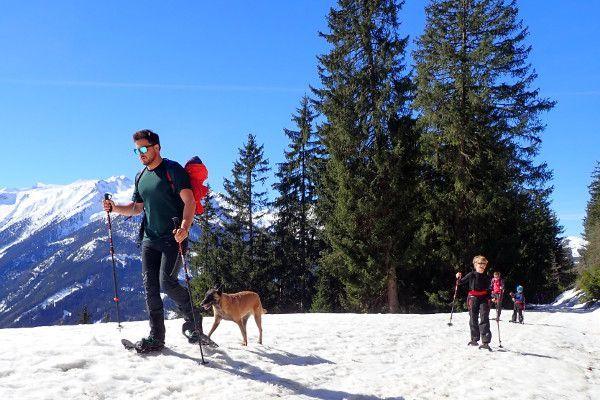 Sneeuwschoenwandelen in skigebied Wildkogel Arena