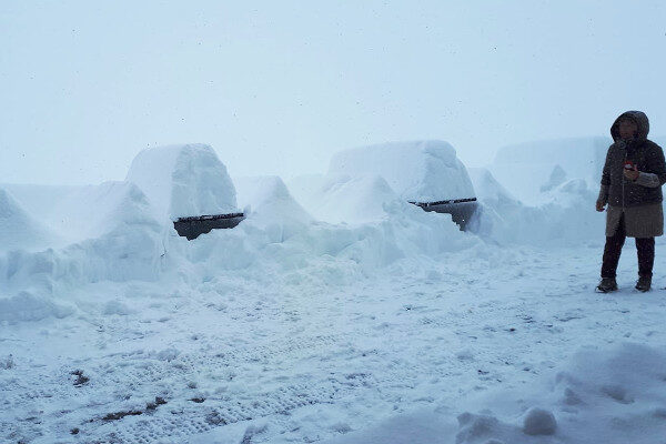 Op de Seegrube bij Innsbruck viel maar liefst 70 cm sneeuw.