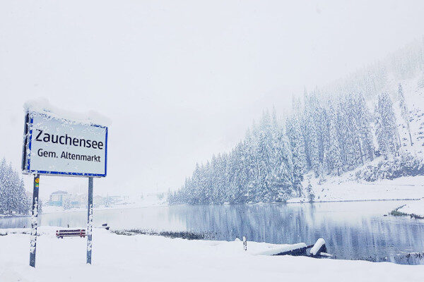 In Zauchensee is zo'n 30 cm sneeuw gevallen.