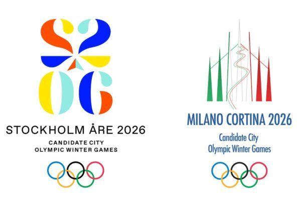 De logo's van de winterspelen 2026