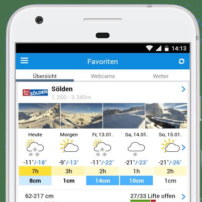 Wintersport app - bergfex lite