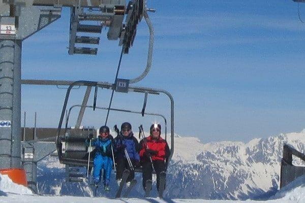 Wintersport in April - genieten van de zon