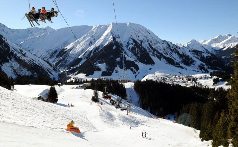 Wintersport in Berwang, klein kindvriendelijk skigebied