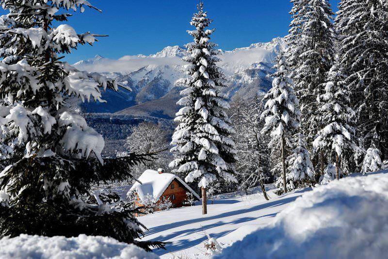 wintersport kerst - witte kerst