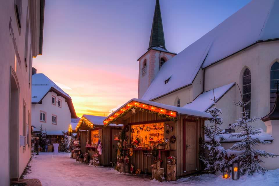 Wintersport kerst - kerstmarkt