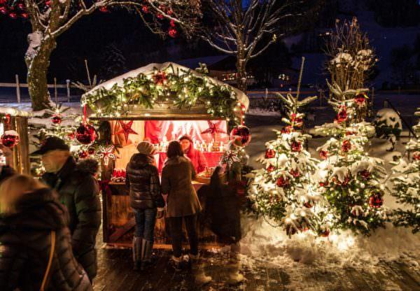 Kerstmarkt in Kitzbühel.