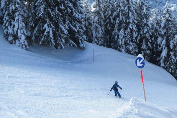 Blauwe piste in Montafon