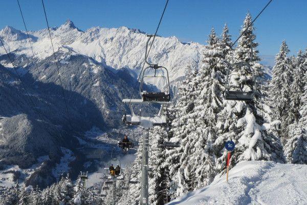 Wintersport Montafon - prachtig uitzicht in Schruns