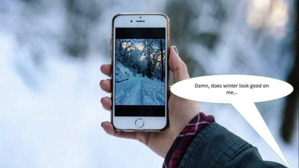 wintersport junkie selfie