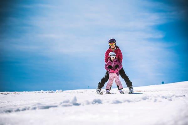 Eerste wintersport kinderen