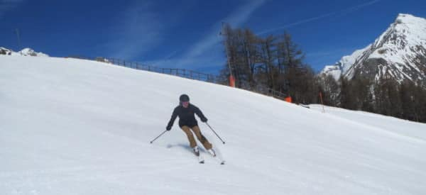 beginnende wintersporter