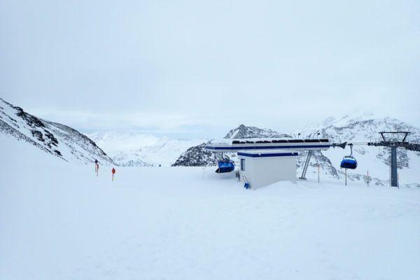 Op het hoogste punt in het skigebied.